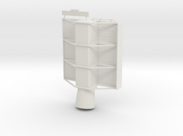 1/96 Scale AN/SPS-48 RADAR in White Natural Versatile Plastic