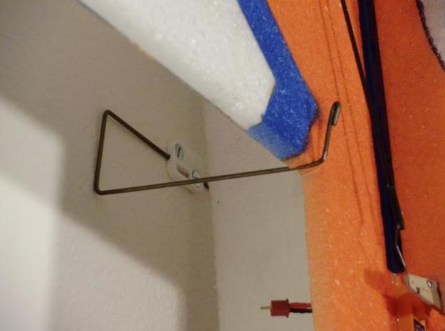 """Small Plane Holder 3d printed 32"""" 3D plane hanging on the wall."""