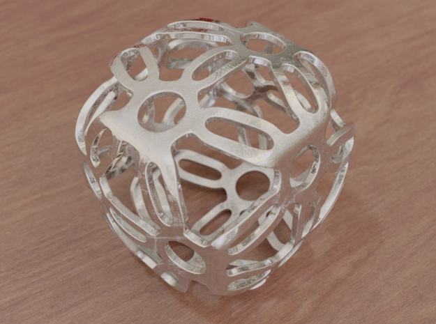 Symmetric Cuboid Structure 1 in White Natural Versatile Plastic