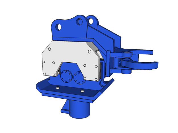 HO - Pile Driver for 20-25t excavators in Smooth Fine Detail Plastic