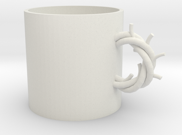 Antlers cup in White Natural Versatile Plastic