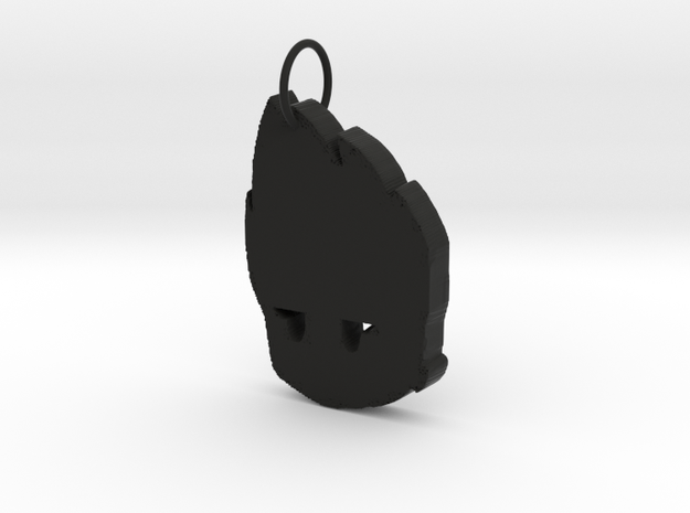 Lucbomber Keychain in Black Natural Versatile Plastic