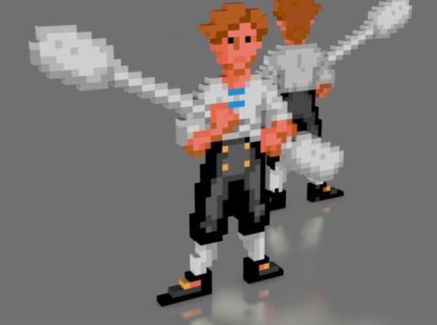 Guybrush Q-Tip in Full Color Sandstone