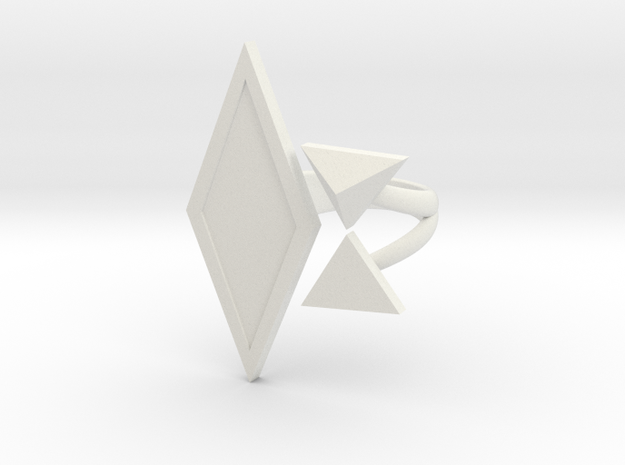 Black Rhombus Ring - Ring Base (with border)
