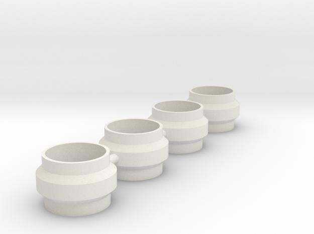 King Shocks Separator 3mm in White Natural Versatile Plastic