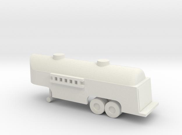 1/110 Scale Fuel Tank Trailer in White Natural Versatile Plastic