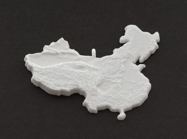 China Christmas Ornament in White Natural Versatile Plastic