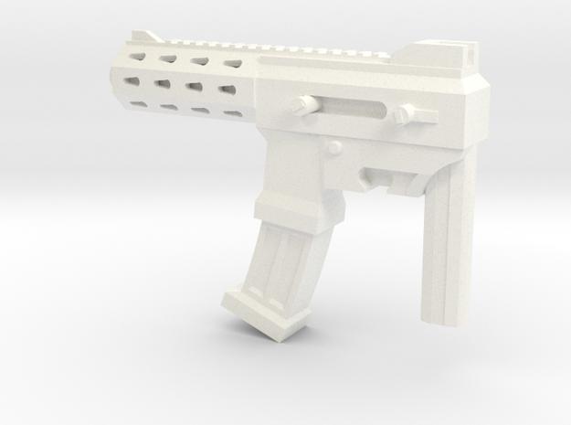 MP size auto machine gun in White Processed Versatile Plastic