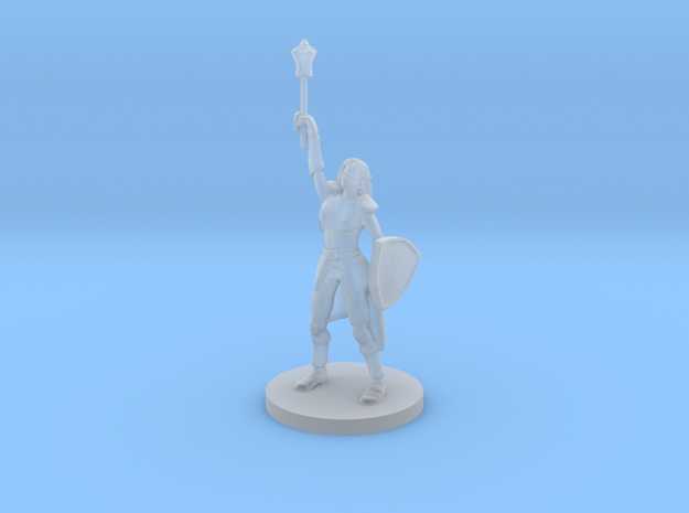 Female Elf Cleric with Mace in Smooth Fine Detail Plastic
