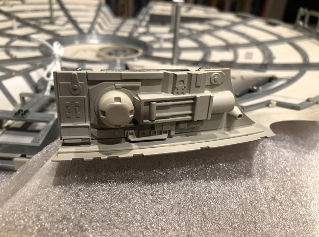 DeAgo Millennium Falcon sheets for side panels mod in Smooth Fine Detail Plastic