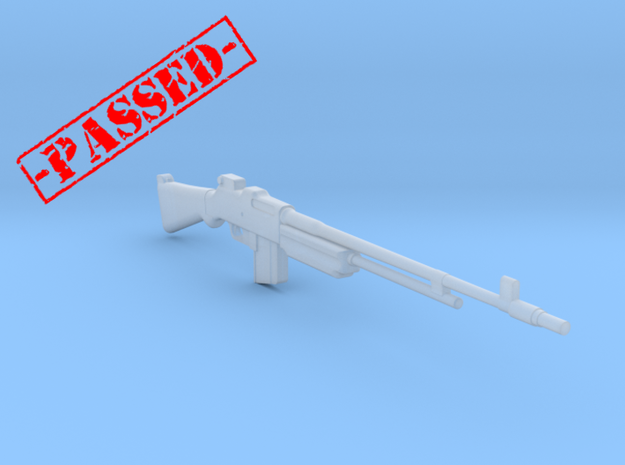 BAR M1918A2 Bakelite (1:18 Scale)-PASSED- in Smooth Fine Detail Plastic: 1:18