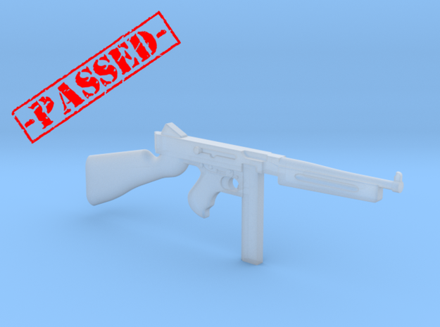 Thompson M1A1 30rds (1:18 Scale)-PASSED- in Smooth Fine Detail Plastic: 1:18