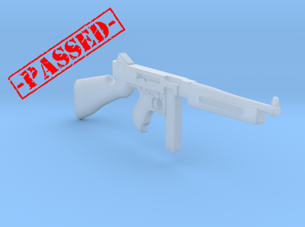 Thompson M1A1 20rds mag (1:18 scale)-PASSED- in Smooth Fine Detail Plastic: 1:18