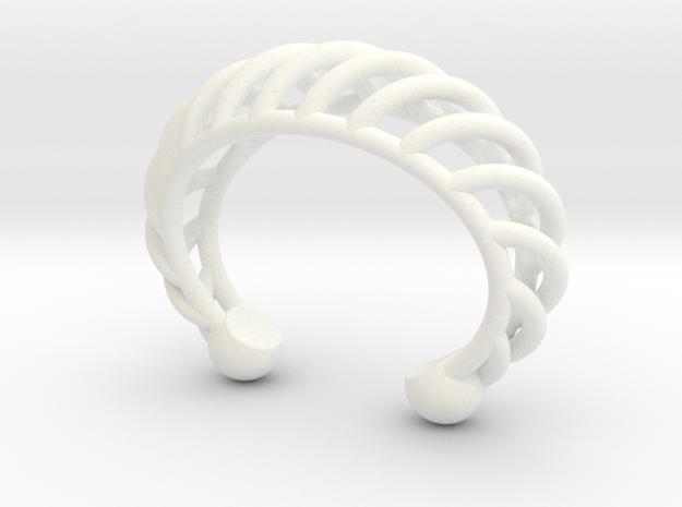 SaraJane WeaverCuff in White Processed Versatile Plastic