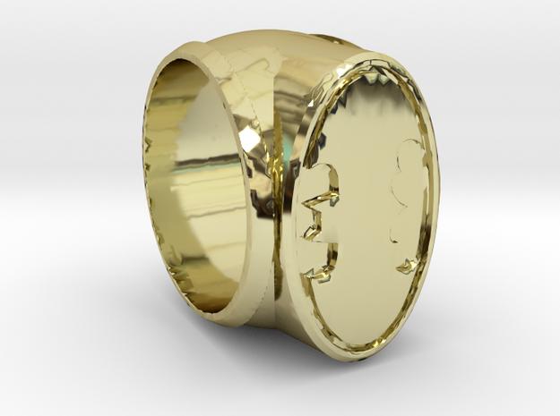 Batman Ring in 18k Gold Plated Brass