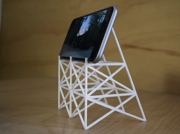 Drive-In Phone Stand in White Natural Versatile Plastic