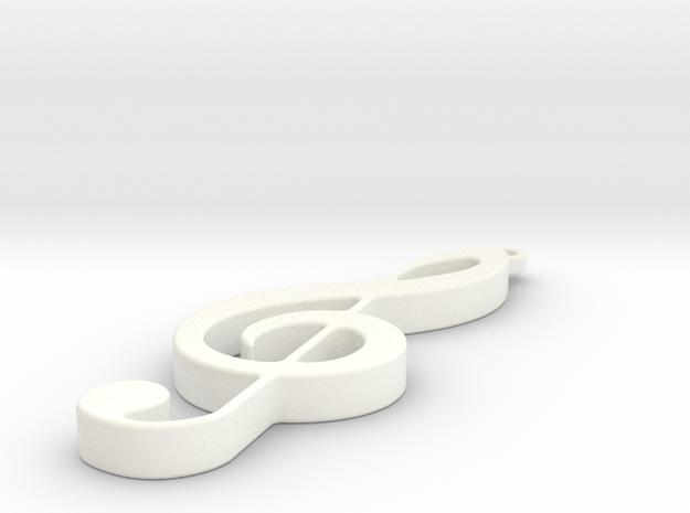 pendant5 in White Processed Versatile Plastic: Small