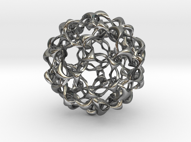 Liquid Solid Wave in Polished Silver