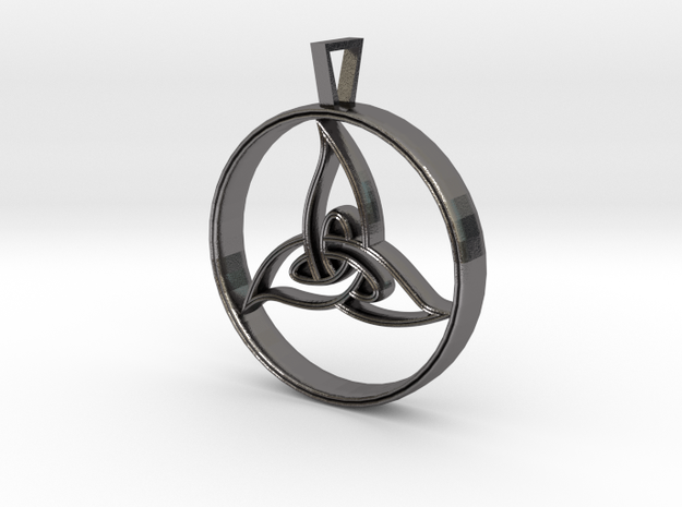 Triquetra Pendant in Polished Nickel Steel