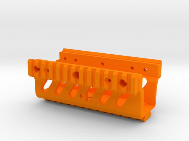 Ergonomic M249 Picatinny RAS RIS Handguard in Orange Processed Versatile Plastic