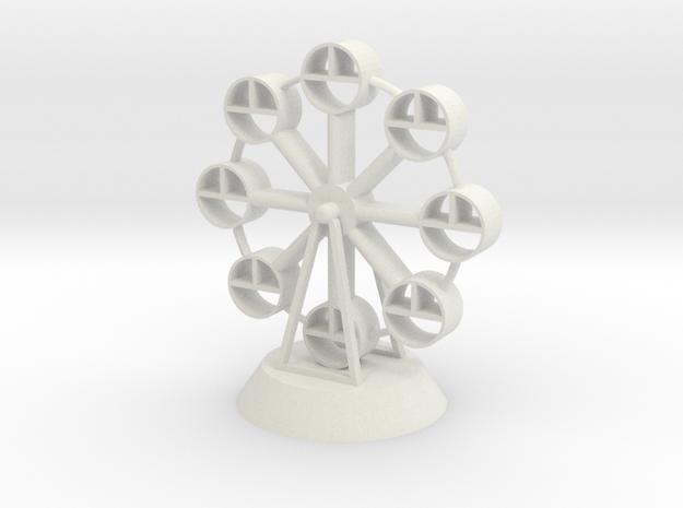 Ferris wheel in White Natural Versatile Plastic