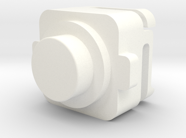 MI-6 Case Front Button in White Strong & Flexible Polished