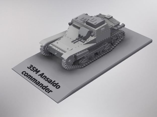 1/72nd scale 35M Ansaldo tankette commander in Smooth Fine Detail Plastic