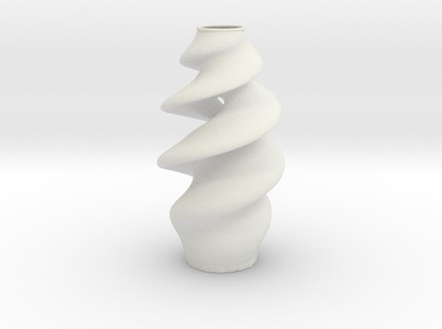 Vase 20104 in White Natural Versatile Plastic