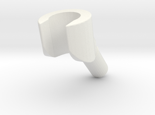 minifigure hand angled in White Natural Versatile Plastic