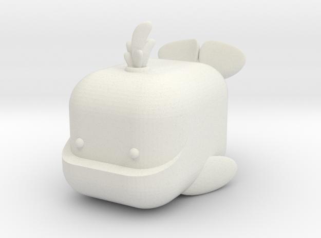 MINI-MALS! - Wally-Whale in White Natural Versatile Plastic
