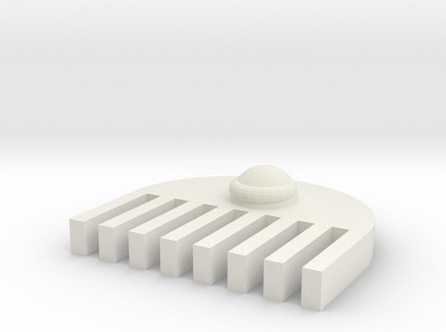 Semicircle comb in White Natural Versatile Plastic