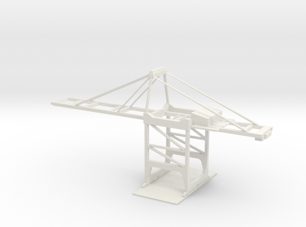 T Gauge Postmax Crane  in White Natural Versatile Plastic