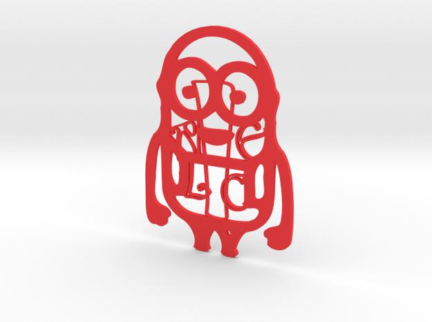 Personalised Minion - Alice in Red Processed Versatile Plastic