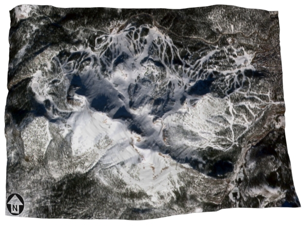 """Mammonth Mountain - Winter: 5""""x7"""" in Coated Full Color Sandstone"""