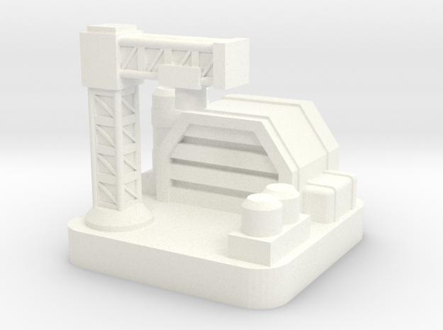 Mini Space Program, Base Factory in White Processed Versatile Plastic