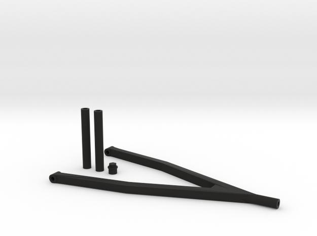 Longer 4 link set SCX10 D110 Team Raffee in Black Natural Versatile Plastic