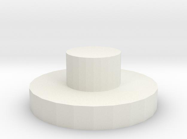 End cap body holes D90 D110 Team Raffee in White Natural Versatile Plastic