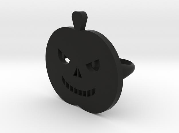 Pumpkin rings in Black Natural Versatile Plastic