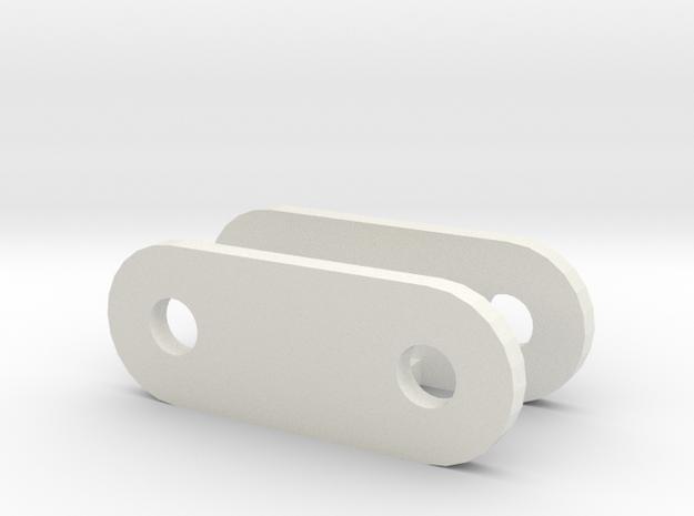 Changed mount leaf spring mount D90 Gmade Sawback in White Natural Versatile Plastic