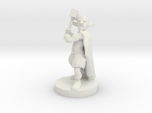 Deep Gnome Barbarian in White Natural Versatile Plastic