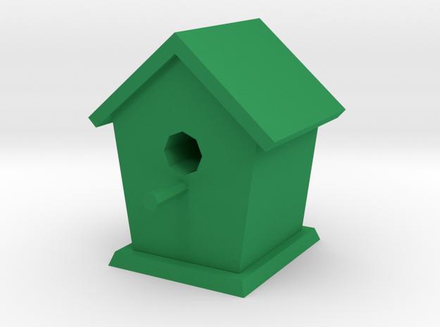Bird house in Green Processed Versatile Plastic