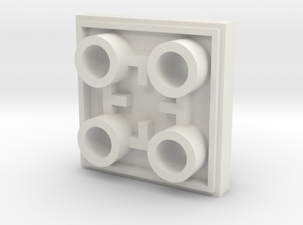 double sided 2x2 lego plate in White Strong & Flexible
