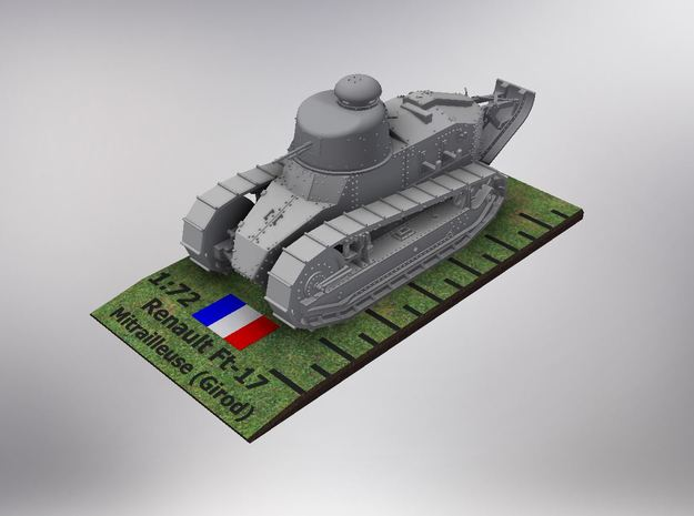 1/72nd Renault Ft-17 Char Mitrailleuse (girod) in Smooth Fine Detail Plastic
