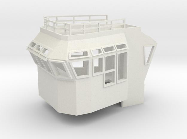 Bridge Superstructure 1/120 TT fits Harbor Tug in White Natural Versatile Plastic