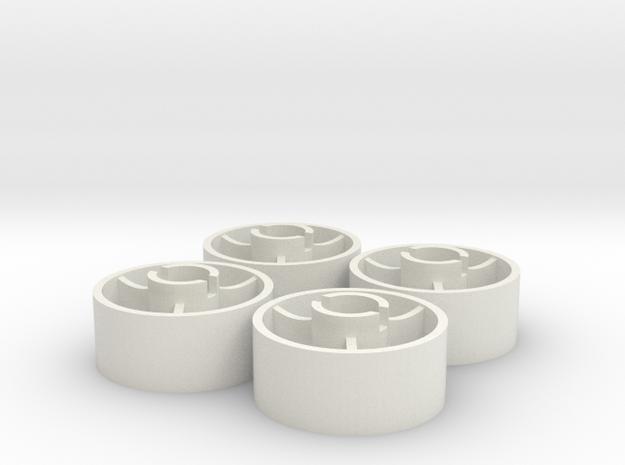 ass 4 jante avant D20 plat +1,5 in White Natural Versatile Plastic