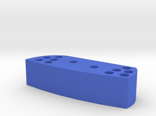 R100RS mirror extension in Blue Processed Versatile Plastic