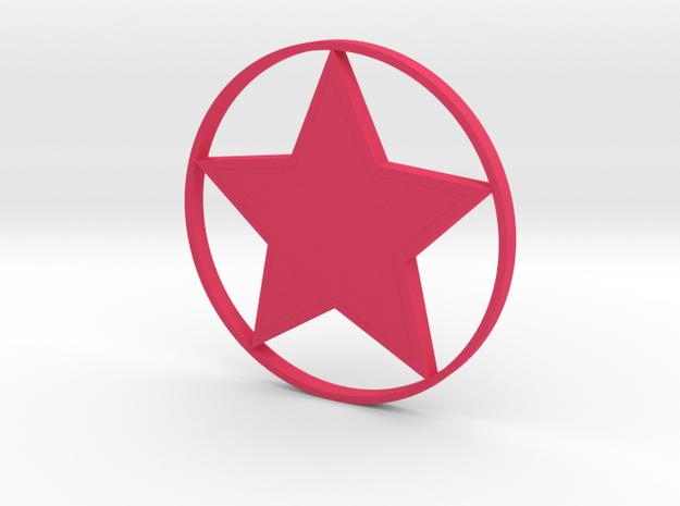 星星.stl in Pink Processed Versatile Plastic