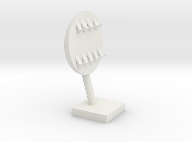 Key holder in White Natural Versatile Plastic