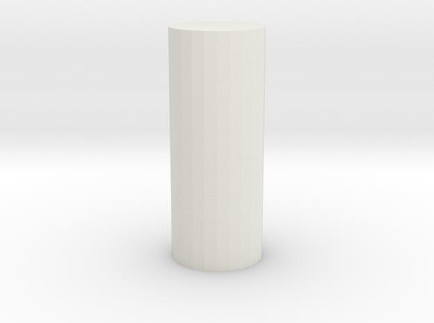 End cap licence plate holes D90 D110 Team Raffee in White Natural Versatile Plastic