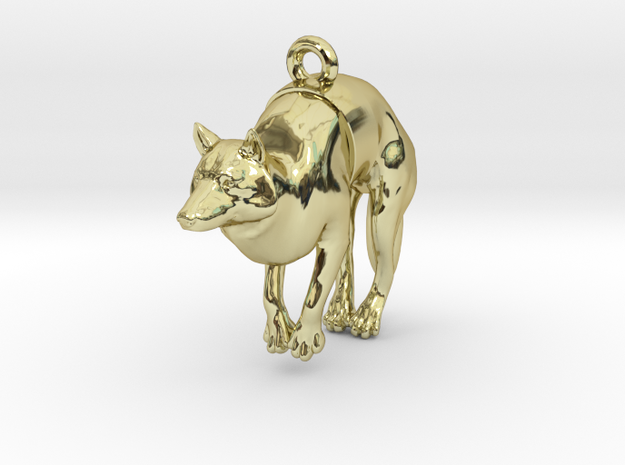 """Pendant """"Dog"""" in 18k Gold Plated Brass"""